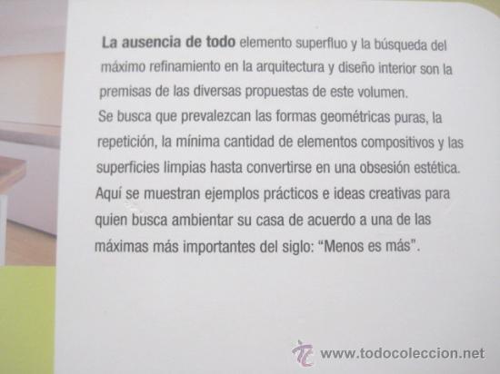 Espacios minimalistas new architectutal interi comprar - Libros interiorismo ...