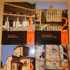 Libros de segunda mano: TESOROS DE ESPAÑA - AÑO 2000 - 6 LIBROS. Lote 26376169