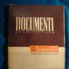 Libros de segunda mano: - DOCUMENTI ARCHITETTURA: MOSTRE ESPOSIZIONI - (MILANO, 1950). Lote 26471270