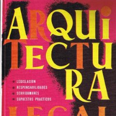 Libros de segunda mano: ARQUITECTURA LEGAL - MONOGRAFIA CEAC - Nº 47 - 1971 . Lote 27905871