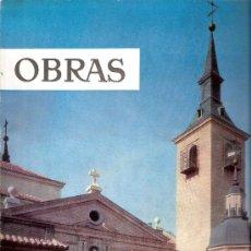 Libros de segunda mano: OBRAS. REVISTA DE CONSTRUCCIÓN. Nº 97.1962. CIMBRAS. LAGO ONTARIO. TOUS.TORRES DE MADRID. ARGEL. Lote 28000439