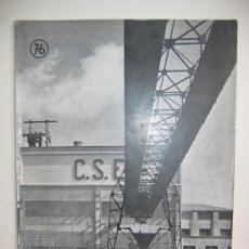 Libros de segunda mano: OBRAS. Nº 76. JULIO - SEPTIEMBRE 1951. TERMICA DE GUADAIRA. GRANDAS DE SALIME. JOAQUÍN VAQUERO. .... Lote 28217067