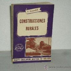 Livres d'occasion: CONSTRUCCIONES RURALES. Lote 189805752