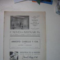 Libros de segunda mano: OBRAS. Nº 61. JULIO-SEPTIEMBRE 1947. TAPICES ESPAÑOLES. CINE MARAVILLA.JEREZ.PUENTE EBRO. MUEBLE BAR. Lote 28228438