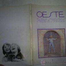 Libros de segunda mano: OESTE Nº 2 REVISTA ARQUITECTURA Y URBANISMO DEL COLEGIO OFICIAL DE ARQUITECTOS EXTREMADURA RM53622. Lote 29002783