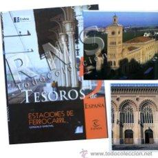 Libros de segunda mano: LIBRO ESTACIONES DE FERROCARRIL ESPAÑA - TESOROS 5 - HISTORIA ARQUITECTURA FOTOS TRANSPORTE TREN. Lote 29849250