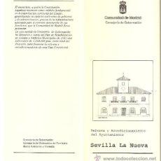 Libros de segunda mano: REFORMA,ACONDICIONAMIENTO AYUNTAMIENTO.SEVILLA LA NUEVA.PROGRAMA COOPERACIÓN MUNICIPAL.1985 - 1986.. Lote 30946502