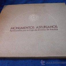 Libros de segunda mano: MONUMENTOS ASTURIANOS RESTAURADOS POR LA CAJA DE AHORROS DE ASTURIAS. AÑO 1978. RUSTICA CON SOLAPA.. Lote 31168568
