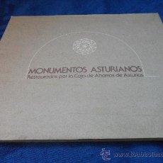 Libros de segunda mano: MONUMENTOS ASTURIANOS RESTAURADOS POR LA CAJA DE AHORROS DE ASTURIAS. AÑO 1978. RUSTICA CON SOLAPA.. Lote 31168602