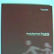 Libros de segunda mano: ARQUITECTURA DOCENTE EN CASTILLA-LA MANCHA 2000/2002. 325 PP. CON FOTOS A COLOR Y PLANOS. 2003. Lote 29615348