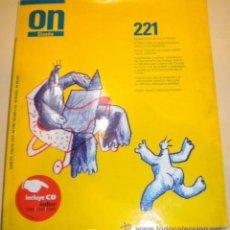 Libros de segunda mano: LIBRO - REVISTA - CATALOGO - ON - ( DISEÑO, INTERIORISMO Y ARQUITECTURA ) Nº 221 - 2000 . Lote 31688027