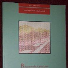 Libros de segunda mano: RECOMENDACIONES PARA EL PROYECTO DE PUENTES MIXTOS PARA CARRETERAS, MINISTERIO FOMENTO MADRID 1996. Lote 210642243