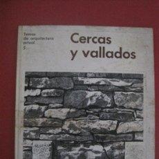 Libros de segunda mano: CERCAS Y VALLADOS. EDITORIAL GUSTAVO GILI, BARCELONA. ARQUITECTURA. Lote 32804116