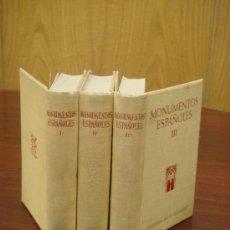 Libros de segunda mano: MONUMENTOS ESPAÑOLES, 3 TOMOS, 1953, J.M.AZCÁRATE. Lote 33073184