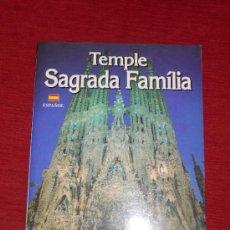 Libri di seconda mano: TEMPLE SAGRADA FAMÍLIA DE BARCELONA. Lote 34639169