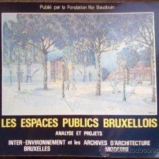 Libros de segunda mano: LES ESPACES PUBLICS BRUXELLOIS (BRUSELAS) ANALISIS Y PROYECTOS. ARQUITECTURA URBANISMO. Lote 35512726
