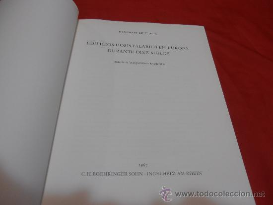 Libros de segunda mano: EDIFICIOS HOSPITALARIOS EN EUROPA DURANTE DIEZ SIGLOS - Foto 2 - 35603479