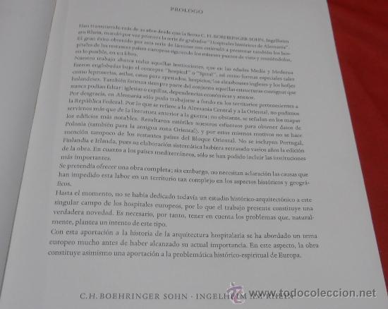 Libros de segunda mano: EDIFICIOS HOSPITALARIOS EN EUROPA DURANTE DIEZ SIGLOS - Foto 4 - 35603479