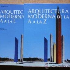 Libros de segunda mano: ARQUITECTURA MODERNA DE LA A A LA Z.. Lote 36160229
