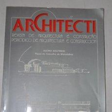 Libros de segunda mano: ARCHITÉCTI. REVISTA DE ARQUITECTURA E CONSTRUÇAO. PERIÓDICO DE ARQUITECTURA E CONSTRUCCIÓN. RM61243. Lote 36401513