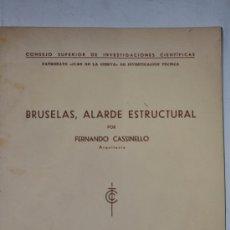 Libros de segunda mano: BRUSELAS, ALARDE ESTRUCTURAL. INSTITUTO TÉCNICO DE LA CONSTRUCCIÓN Y EL CEMENTO. Nº 198. RM61340. Lote 36444184