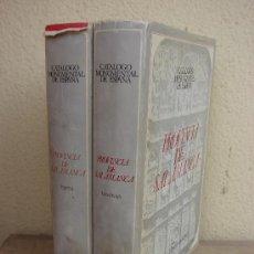 Libros de segunda mano: CATALOGO MONUMENTAL DE ESPAÑA PROVINCIA DE SALAMANCA .2 TOMOS GOMEZ MORENO. Lote 36862713