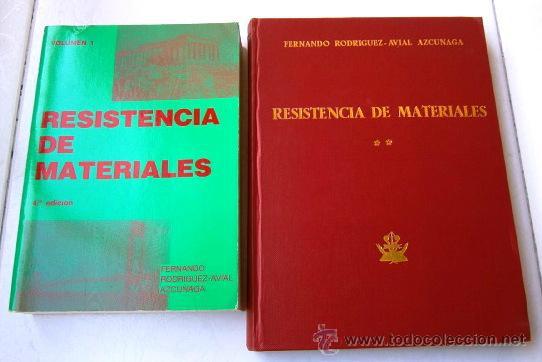 RESISTENCIA DE MATERIALES 2T POR FERNANDO RODRÍGUEZ AVIAL DE ED. BELLISCO EN MADRID 1990-1977 (Libros de Segunda Mano - Bellas artes, ocio y coleccionismo - Arquitectura)
