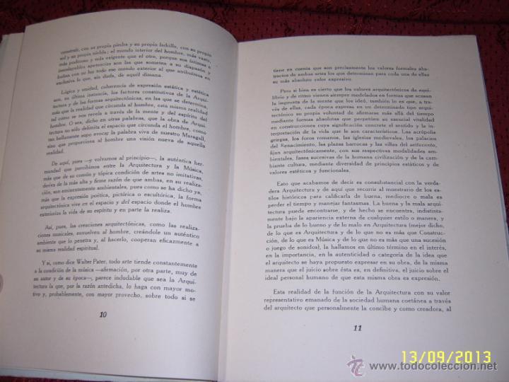 Libros de segunda mano: ACTUALIDAD Y ARQUITECTURA.PEDRO BENAVENT DE BARBERÁ.1956.EXTRAORDINARIO EJEMPLAR. - Foto 3 - 39927236