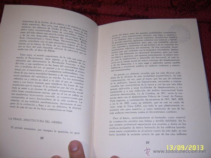 Libros de segunda mano: ACTUALIDAD Y ARQUITECTURA.PEDRO BENAVENT DE BARBERÁ.1956.EXTRAORDINARIO EJEMPLAR. - Foto 4 - 39927236