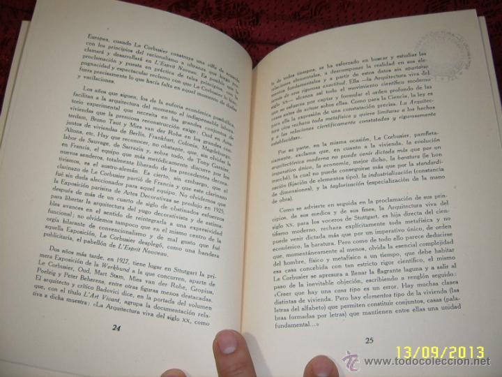Libros de segunda mano: ACTUALIDAD Y ARQUITECTURA.PEDRO BENAVENT DE BARBERÁ.1956.EXTRAORDINARIO EJEMPLAR. - Foto 5 - 39927236