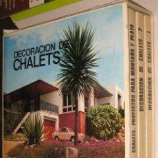 Libros de segunda mano: DECORACION DE CHALETS - ASENSIO CERVER - 3 TOMOS CON CAJA ESTUCHE. Lote 41720711