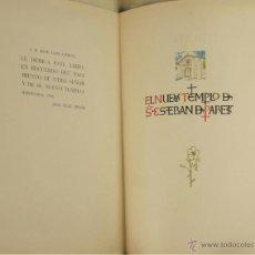Libros de segunda mano: 4583- EL NUEVO TEMPLO DE SAN ESTEBAN DE PARETS. JOSE FELIU PRATS. EDIT. COLUMBIA. 1948. . Lote 42323650