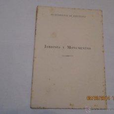 Libros de segunda mano: JARDINES Y MONUMENTOS - ADOLFO FLORENSA FERRER - 1959. Lote 42435584
