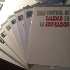 Libros de segunda mano: CONTROL DE CALIDAD EN LA EDIFICACIÓN (7 TOMOS). Lote 42684455
