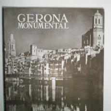 Libros de segunda mano: PALOL SALELLAS,P. DE: GERONA MONUMENTAL.. XVIII. ( PLUS ULTRA). Lote 43204055