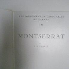 Libros de segunda mano: VERRIÉ, F. P.: MONTSERRAT . Lote 43246206