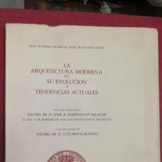 Libros de segunda mano: LA ARQUITECTURA MODERNA EN SU EVOLUCION Y TENDENCIAS NATURALES. PROFUSAMENTE ILUSTRADO. Lote 43288362