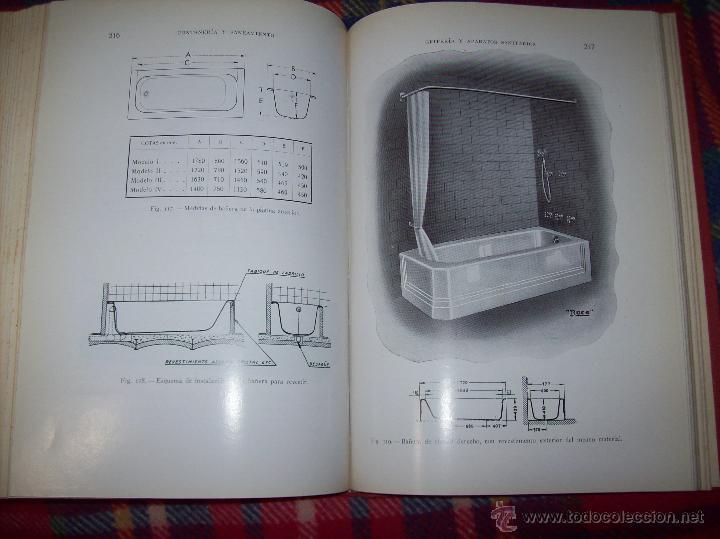 FONTANERÍA Y SANEAMIENTO.INSTALACIONES EN LOS EDIFICIOS.MARIANO RODRÍGUEZ.4ª EDICIÓN AMPLIADA 1965. (Libros de Segunda Mano - Bellas artes, ocio y coleccionismo - Arquitectura)