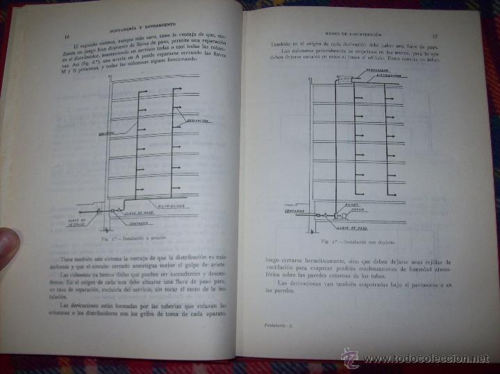 Libros de segunda mano: FONTANERÍA Y SANEAMIENTO.INSTALACIONES EN LOS EDIFICIOS.MARIANO RODRÍGUEZ.4ª EDICIÓN AMPLIADA 1965. - Foto 4 - 43559757