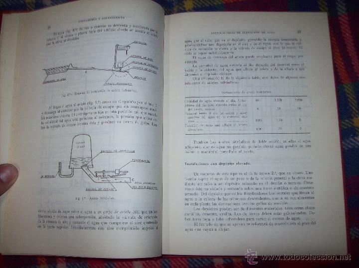 Libros de segunda mano: FONTANERÍA Y SANEAMIENTO.INSTALACIONES EN LOS EDIFICIOS.MARIANO RODRÍGUEZ.4ª EDICIÓN AMPLIADA 1965. - Foto 6 - 43559757