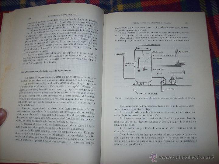 Libros de segunda mano: FONTANERÍA Y SANEAMIENTO.INSTALACIONES EN LOS EDIFICIOS.MARIANO RODRÍGUEZ.4ª EDICIÓN AMPLIADA 1965. - Foto 7 - 43559757