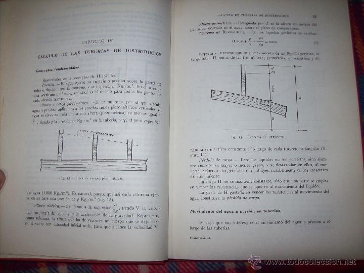 Libros de segunda mano: FONTANERÍA Y SANEAMIENTO.INSTALACIONES EN LOS EDIFICIOS.MARIANO RODRÍGUEZ.4ª EDICIÓN AMPLIADA 1965. - Foto 8 - 43559757