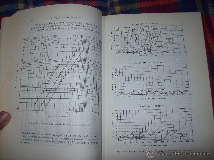 Libros de segunda mano: FONTANERÍA Y SANEAMIENTO.INSTALACIONES EN LOS EDIFICIOS.MARIANO RODRÍGUEZ.4ª EDICIÓN AMPLIADA 1965. - Foto 10 - 43559757