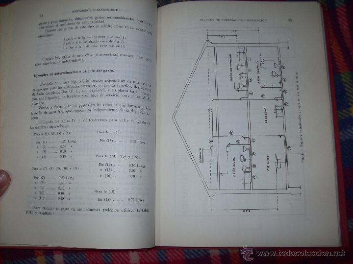 Libros de segunda mano: FONTANERÍA Y SANEAMIENTO.INSTALACIONES EN LOS EDIFICIOS.MARIANO RODRÍGUEZ.4ª EDICIÓN AMPLIADA 1965. - Foto 11 - 43559757