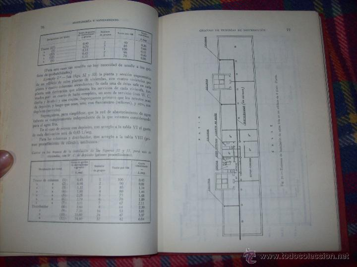 Libros de segunda mano: FONTANERÍA Y SANEAMIENTO.INSTALACIONES EN LOS EDIFICIOS.MARIANO RODRÍGUEZ.4ª EDICIÓN AMPLIADA 1965. - Foto 12 - 43559757