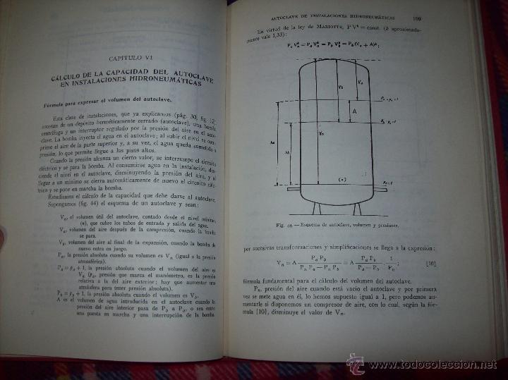 Libros de segunda mano: FONTANERÍA Y SANEAMIENTO.INSTALACIONES EN LOS EDIFICIOS.MARIANO RODRÍGUEZ.4ª EDICIÓN AMPLIADA 1965. - Foto 13 - 43559757