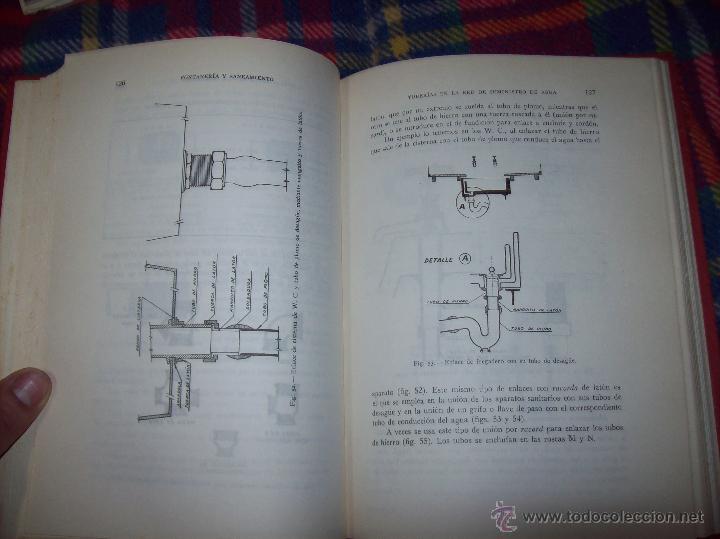Libros de segunda mano: FONTANERÍA Y SANEAMIENTO.INSTALACIONES EN LOS EDIFICIOS.MARIANO RODRÍGUEZ.4ª EDICIÓN AMPLIADA 1965. - Foto 14 - 43559757