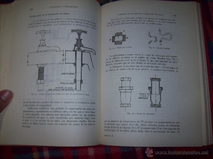 Libros de segunda mano: FONTANERÍA Y SANEAMIENTO.INSTALACIONES EN LOS EDIFICIOS.MARIANO RODRÍGUEZ.4ª EDICIÓN AMPLIADA 1965. - Foto 15 - 43559757