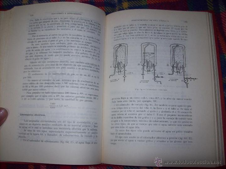 Libros de segunda mano: FONTANERÍA Y SANEAMIENTO.INSTALACIONES EN LOS EDIFICIOS.MARIANO RODRÍGUEZ.4ª EDICIÓN AMPLIADA 1965. - Foto 16 - 43559757