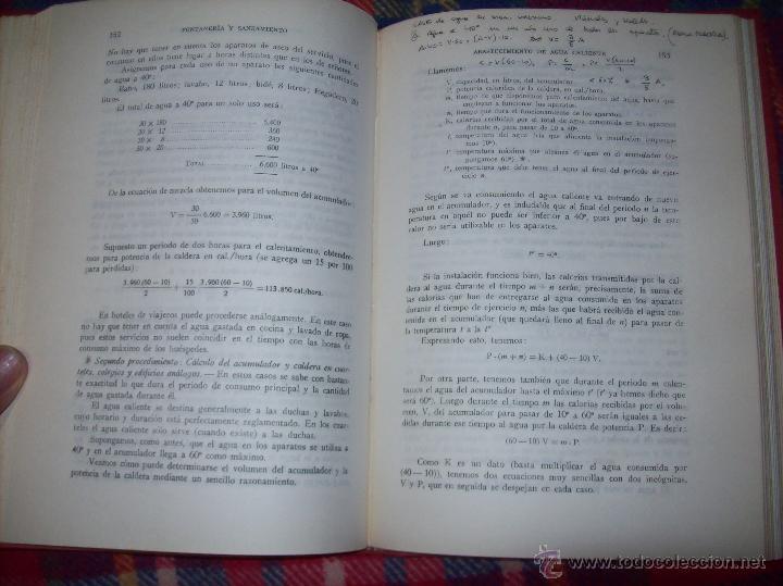 Libros de segunda mano: FONTANERÍA Y SANEAMIENTO.INSTALACIONES EN LOS EDIFICIOS.MARIANO RODRÍGUEZ.4ª EDICIÓN AMPLIADA 1965. - Foto 17 - 43559757